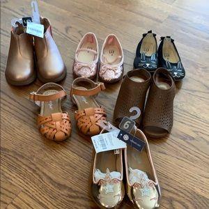 NEW Baby GAP OshKosh boots glitter flats sandals